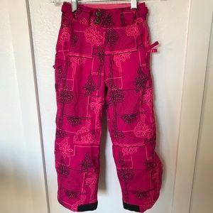 Girls Columbia Bohemian Babe pink snow pants